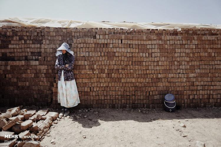 تصاویر کارگران فصلی,عکس های کارگران فصلی,تصاویر کورههای آجرپزی همدان