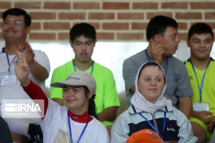تصاویر مسابقات ورزشکاران سندرم داون,عکس های مسابقات ورزشکاران سندرم داون,تصاویر ورزش فوتسال