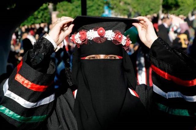 تصاویر جشن فارغالتحصیلی دانشجویان فلسطین,عکس های جشن فارغالتحصیلی دانشجویان فلسطین,تصاویر دانشجویان فلسطین