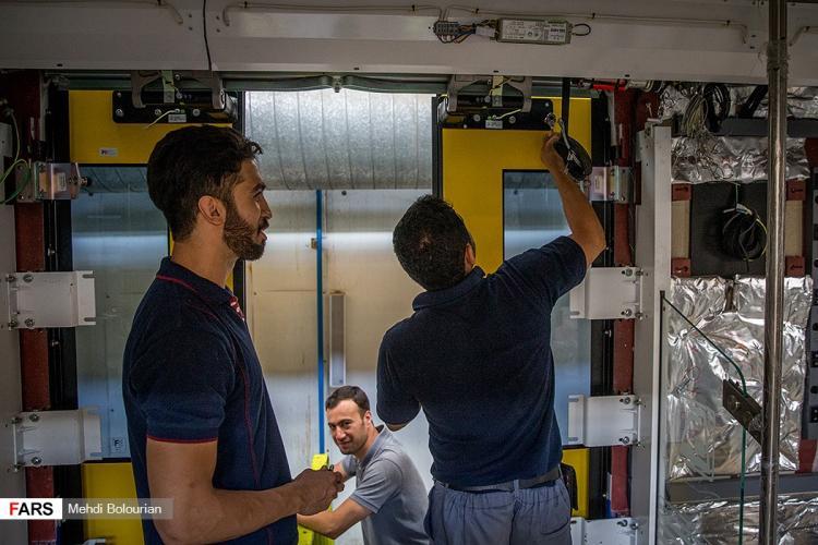 تصاویر واگن سازی تهران,عکس های کارخانه واگن سازی تهران,تصاویر مراحل کار در کارخانه واگن سازی تهران