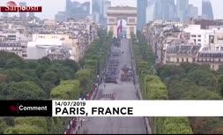 فیلم/ مراسم ویژه روز ملی فرانسه و رونمایی از سرباز پرنده