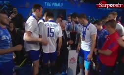 فیلم/ اهدای جام و جشن قهرمانی تیم ملی روسیه (لیگ ملتهای والیبال 2019)