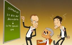 کاریکاتور در مورد یادگیری زبان آلمانی توسط مورینیو,کاریکاتور,عکس کاریکاتور,کاریکاتور ورزشی