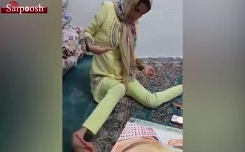 فیلم/ تشکر سلمانخان از فاطمه حمامی، نقاش ایرانی!