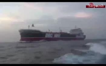 اولین فیلم از توقیف نفتکش انگلیسی توسط سپاه