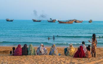 تصاویر جشن نوروز صیاد در جزیره قشم,عکس های جشن نوروز صیاد,تصاویر جشن آغاز سال نو صیادی در سواحل جنوب ایران