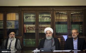 تصاویر جلسه شورای عالی انقلاب فرهنگی,عکس های دکتر حسن روحانی,تصاویر علی لاریجانی در جلسه شورای عالی انقلاب فرهنگی