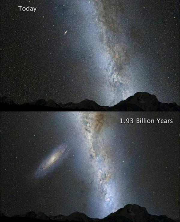 برخورد کهکشان راه شیری و آندرومدا,اخبار علمی,خبرهای علمی,نجوم و فضا