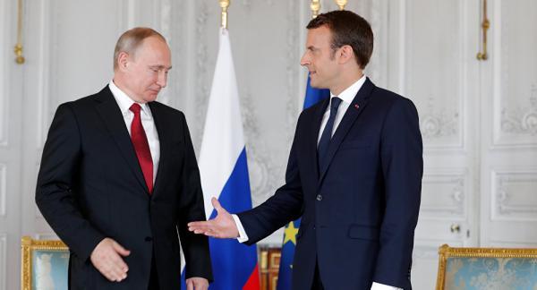 دیدار ماکرون و ولادیمیر پوتین,اخبار سیاسی,خبرهای سیاسی,سیاست خارجی