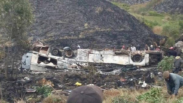 حادثه سقوط اتوبوس مسافربری شهر چارازانی,اخبار حوادث,خبرهای حوادث,حوادث