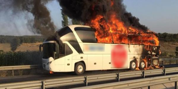 آتشسوزی اتوبوسی در ترکیه,اخبار حوادث,خبرهای حوادث,حوادث