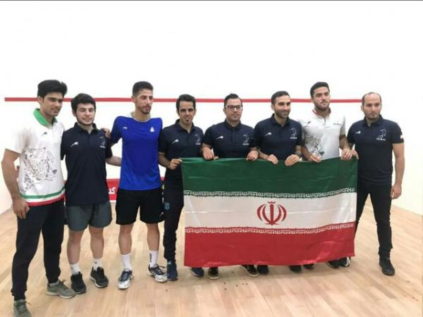 نخستین قهرمانی تیم ملی اسکواش در مسابقات غرب آسیا