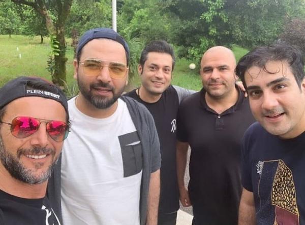 امین حیایی و احسان علیخانی,اخبار هنرمندان,خبرهای هنرمندان,بازیگران سینما و تلویزیون