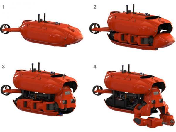 رباتی با قابلیت تبدیل به زیردریایی,اخبار علمی,خبرهای علمی,اختراعات و پژوهش