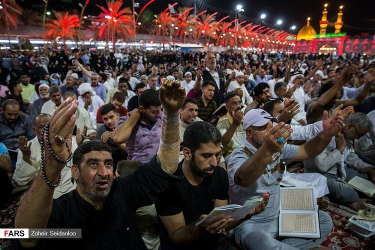 تصاویر دعای عرفه در بین الحرمین,عکس های دعای عرفه در بین الحرمین,تصاویر زائران امام حسین