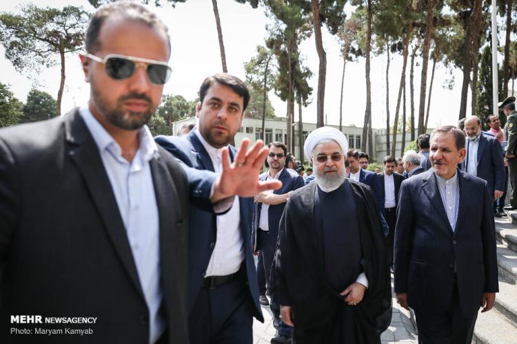 تصاویر حضور روحانی در جمع خبرنگاران,عکس های حضور روحانی در جمع خبرنگاران,تصاویر رئیس جمهور کشور