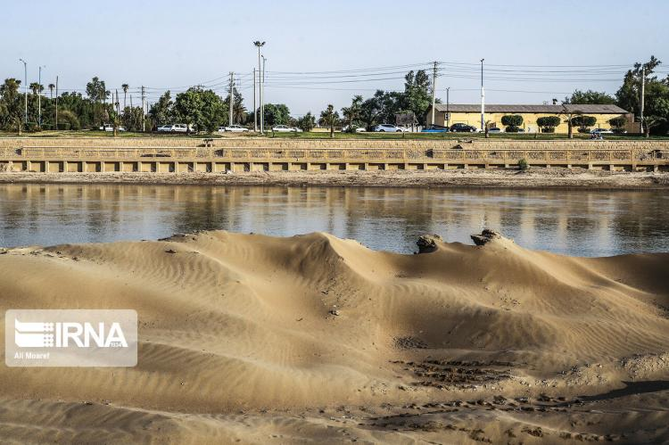 تصاویر لابروبی رودخانه کارون,عکس های رودخانه کارون,تصاویر رودخانه کارون بعد از سیل