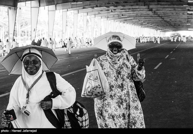 تصاویر عزیمت زائران به سمت منا,عکس های عزیمت زائران به سمت منا,تصاویر صحرای عرفات