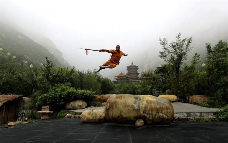تصاویر هنرهای رزمی در معبد شائولین,عکس های هنرهای رزمی در معبد شائولین,تصاویر معبد شائولین