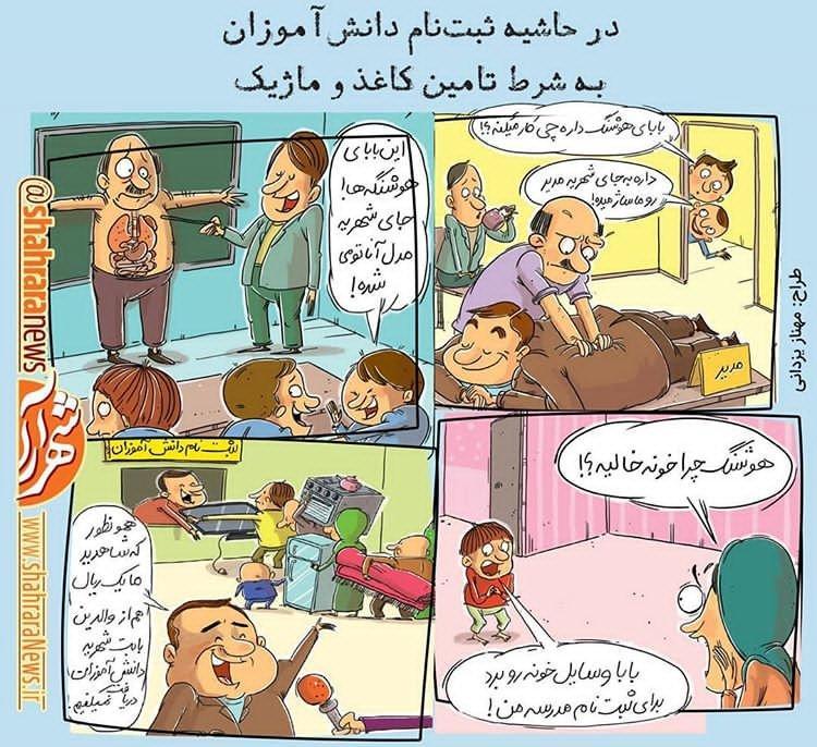 کارتون گرانی شهریه مدارس,کاریکاتور,عکس کاریکاتور,کاریکاتور اجتماعی