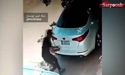 فیلم/ سرقت پلاک خودرو در کیانپارس اهواز
