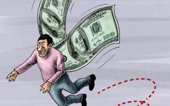 کاریکاتور در مورد فرار کردن عامل بانک مرکزی در توزیع ارزها,کاریکاتور,عکس کاریکاتور,کاریکاتور اجتماعی