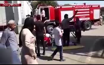 فیلم/ خرابی تله کابین گنجنامه همدان و گرفتار شدن ۳۰۰ نفر