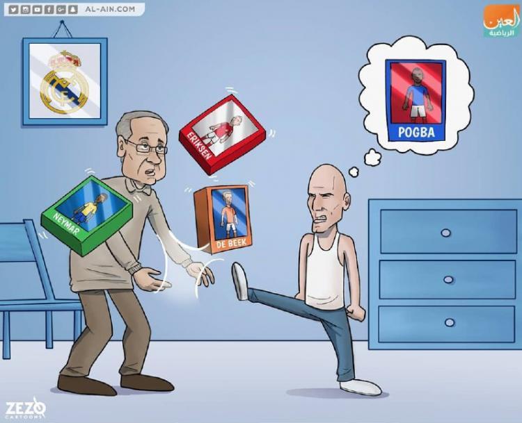 کارتون زیادهخواهی زین الدین زیدان,کاریکاتور,عکس کاریکاتور,کاریکاتور ورزشی