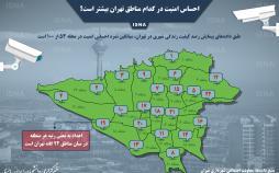 اینفوگرافیک امنیت در مناطق تهران