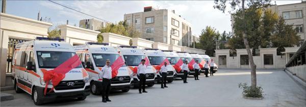 اهدای چند آمبولانس توسط بانک رفاه,اخبار پزشکی,خبرهای پزشکی,بهداشت