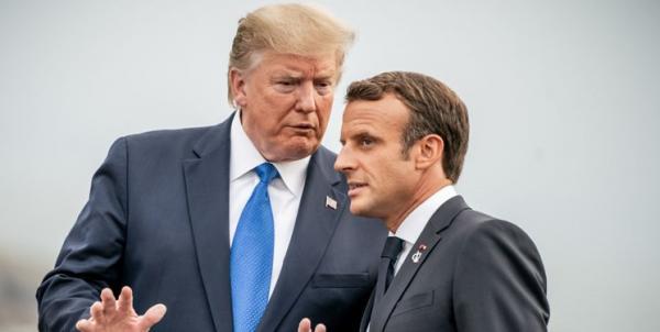 دونالد ترامپ و امانوئل ماکرون,اخبار سیاسی,خبرهای سیاسی,سیاست خارجی