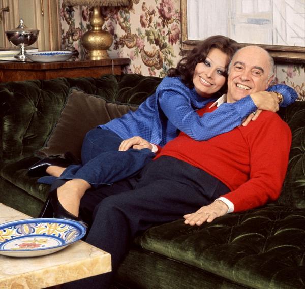 سوفیا لورن و خانواده اش,اخبار هنرمندان,خبرهای هنرمندان,اخبار بازیگران