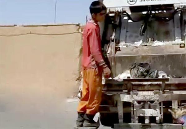 رفتگر کم سن در شهرداری یزد,اخبار اجتماعی,خبرهای اجتماعی,شهر و روستا