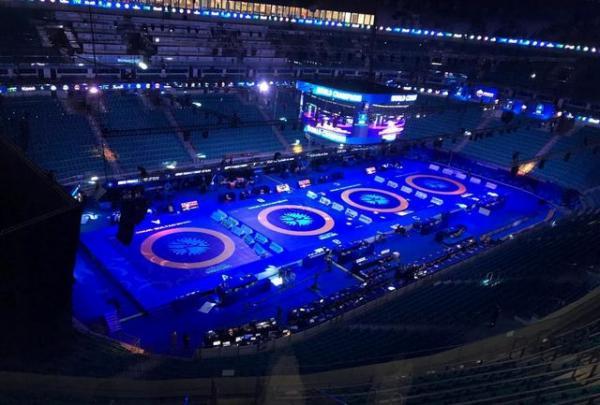 مسابقات کشتی در قزاقستان,اخبار ورزشی,خبرهای ورزشی,کشتی و وزنه برداری
