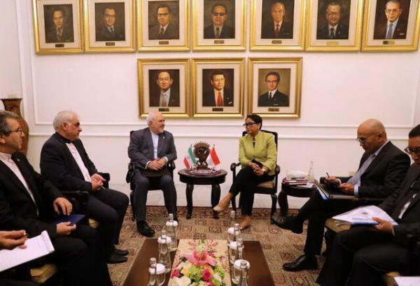 محمد جواد ظریف و وزیر خارجه اندونزی,اخبار سیاسی,خبرهای سیاسی,سیاست خارجی