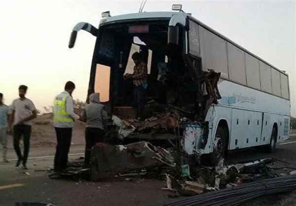 تصادف اتوبوس در محور نورآباد- نهاوند,اخبار حوادث,خبرهای حوادث,حوادث