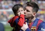 لیونل مسی و پسرش,اخبار ورزشی,خبرهای ورزشی,اخبار ورزشکاران