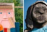 مجسمه چوبی ترامپ در اسلوونی,اخبار هنرهای تجسمی,خبرهای هنرهای تجسمی,هنرهای تجسمی
