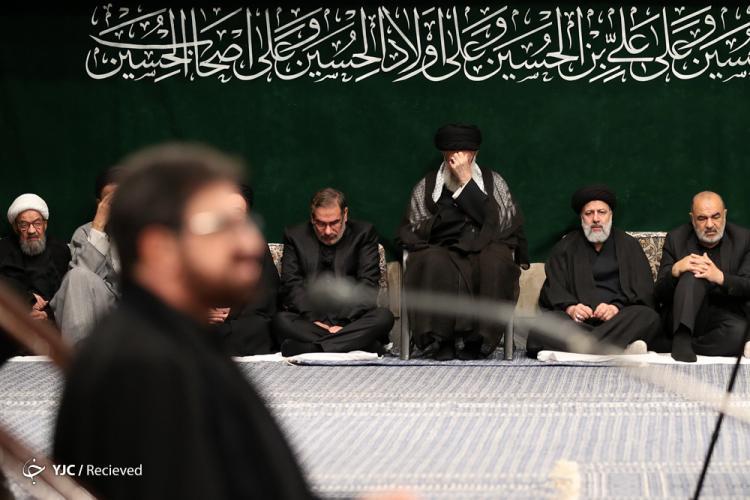 تصاویر آخرین شب مراسم عزاداری امام حسین,عکس های سیاستمداران در عزاداری امام حسین,تصاویر رهبر انقلاب