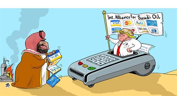کاریکاتور پیشنهاد ترامپ به عربستان