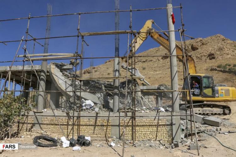 تصاویر تخریب ویلاهای غیرقانونی,عکس های تخریب ویلاهای غیرقانونی,تصاویر تخریب ویلاهای غیرقانونی در شیراز