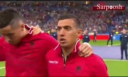 فیلم/ پخش اشتباه سرود تیم ملی فوتبال آلبانی در دیدار مقابل فرانسه