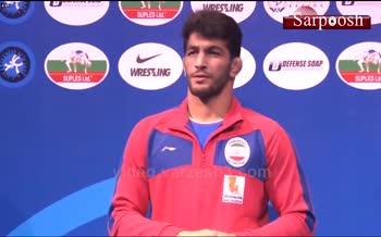 فیلم/ مراسم اهدای مدال طلای حسن یزدانی (مسابقات کشتی آزاد قهرمانی جهان 2019)