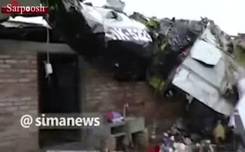 فیلم/ 7 کشته در سقوط هواپیمای کوچک در جنوب غرب کلمبیا