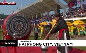 فیلم/ جشنواره مبارزه بوفالوها در ویتنام