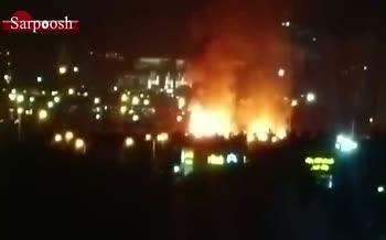 فیلم/ آتش سوزی در مجموعه ورزشی امام رضا در غرب تهران