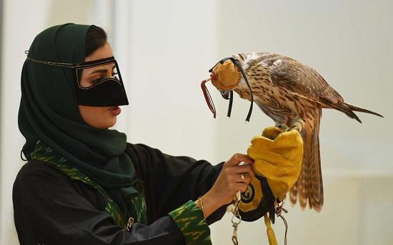 علاقه زنان عربستانی به شاهین شکاری,اخبار جالب,خبرهای جالب,خواندنی ها و دیدنی ها