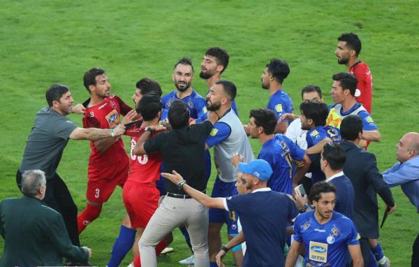 درگیری در دربی 90,اخبار فوتبال,خبرهای فوتبال,لیگ برتر و جام حذفی