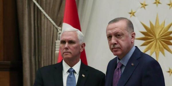 مایک پنس و اردوغان,اخبار سیاسی,خبرهای سیاسی,خاورمیانه