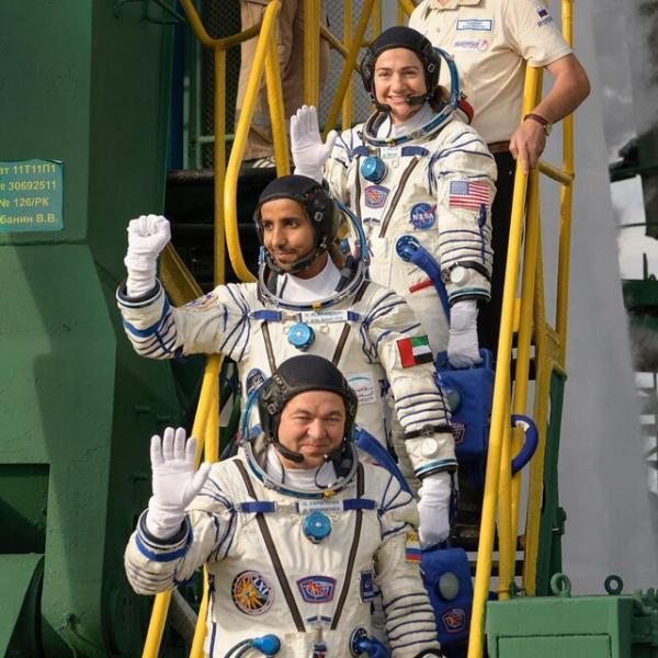 شهروند اماراتی و دو فضانورد در ایستگاه فضایی بین المللی,اخبار علمی,خبرهای علمی,نجوم و فضا
